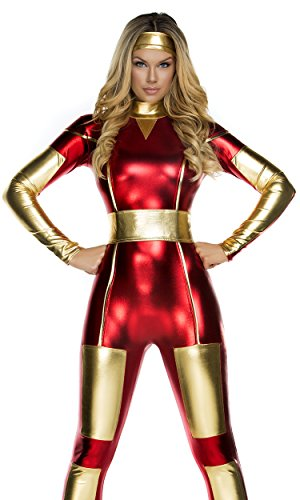 Forplay Women's Steel Seductress Catsuit and Headband