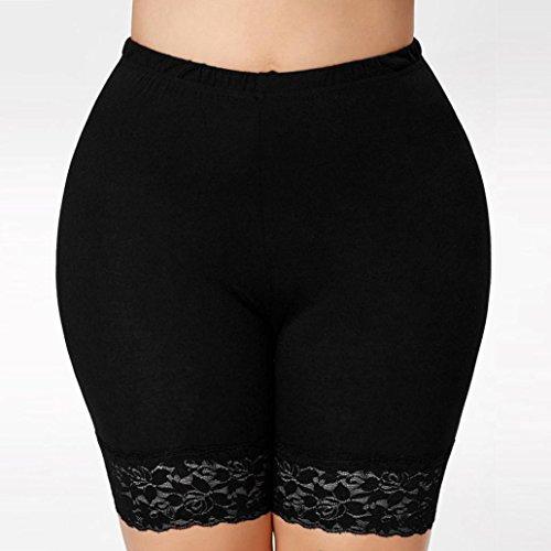 Pantalones Cortos Mujer Verano, Faldas con cuentas de encaje de las mujeres de moda corto Falda bajo pantalones de seguridad Ropa interior Pantalones cortos ...