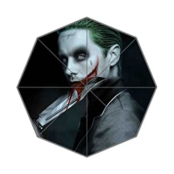 Sweet-Life Jared Leto Joker Fashionable Foldable Travel Rain Sun Anti-uv Rainproof Umbrella