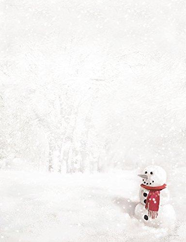 - Hortense B. Hewitt 80-Pack Snowman in Red Scarf Decorative Paper
