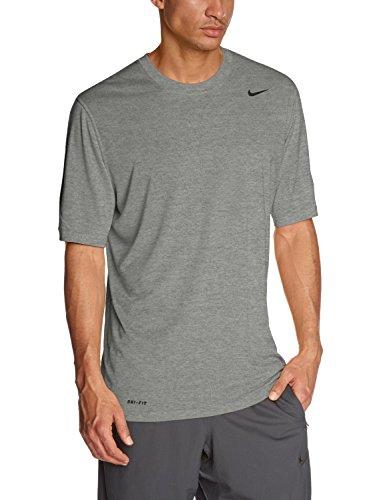 Nike Legend Poly SS Tee–Maglietta a maniche corte per uomo grigio (Grau)