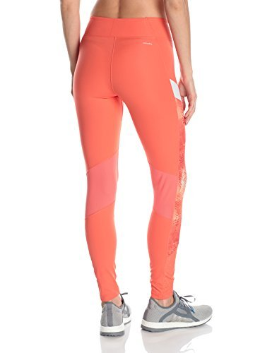 adidas Women's Training Wow Drop Tights, Easy Coral/Print/White, Small by adidas (Image #2)