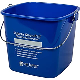 San Jamar KP196KCBL Kleen-Pail Commercial Cleaning Bucket, 6 Quart, Blue