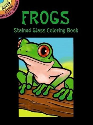 Frogs Stained Glass Coloring Dover