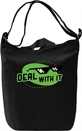 Deal With It Borsa Giornaliera Canvas Canvas Day Bag| 100% Premium Cotton Canvas| DTG Printing|