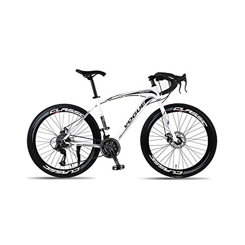 GYZLZZB 24-Speed Road Bike Outdoor Cycling 700C City Bicycles Double Disc Brake Lightweight High Carbon Steel Frame…