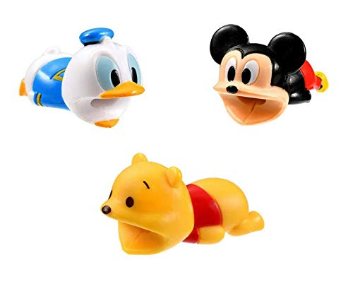 Charger Bites Disney 3 Pack Adorable Cable Protectors - Cable Bites Phone and MacBook Accessory - for iPhone and Android - Donald Duck, Mickey Mouse, and Winnie The Pooh ()