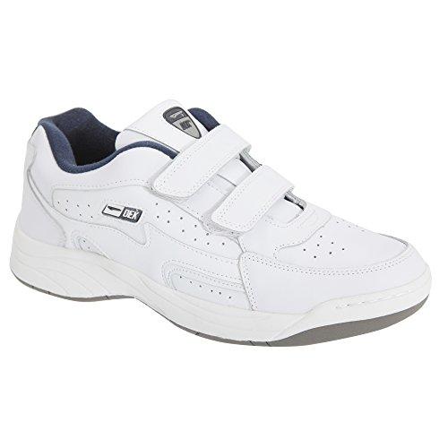 Dek Mens Arizona Touch Fastening Trainers/Sneakers White EyOnsbhomF