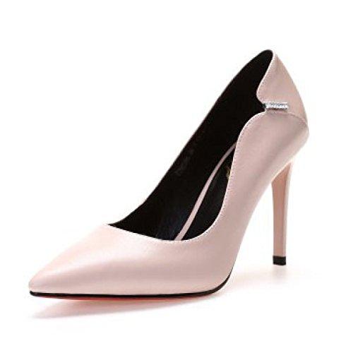Talons Mariage À Faible Profondeur Chaussures De À Hauts Bout Talons De Pompes Hauts Cuir Femmes Chaussures Pointu Rose Banquet Escarpins qnxUzwfO