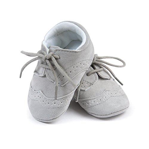 etrack-online Baby Boys Deportes zapatillas Prewalker Cuna cordones zapatos de Babe gris gris Talla:6-12 mes gris