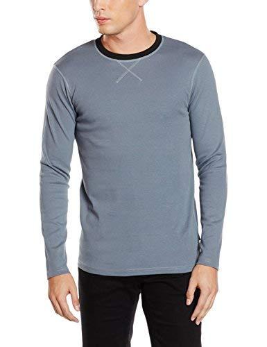 Lindbergh Contrast O-Neck Tee L//S T-Shirt Uomo