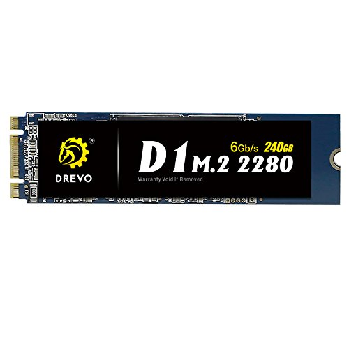DREVO D1 M.2 2280 240 GB Internal SSD Solid State Drive SATA 6Gb/s Read 500MB/S Write 500MB/S