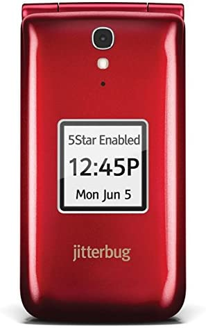 Jitterbug Flip Cell Phone - Red WeeklyReviewer