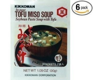 Kikkoman Instant Tofu Miso Soup (Soybean Paste Soup with Tofu) (Pack of -