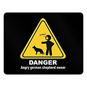 Teeburon DANGER ANGRY German Shepherd OWNER Plastic Acrylic