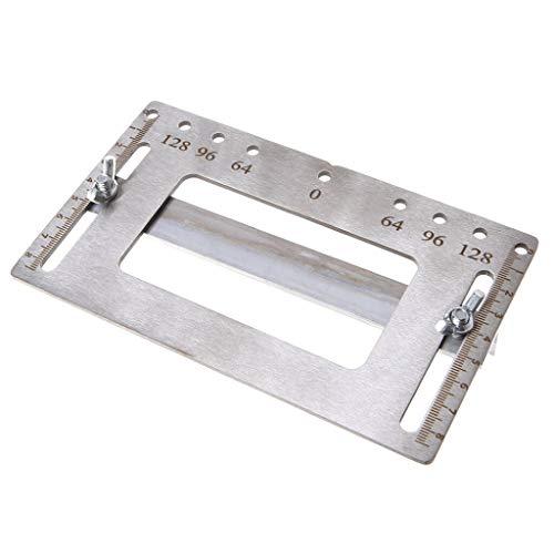 (❤Lemoning❤ Stainless Steel Door Furniture Handle Punch Locator Template Wood Drill)