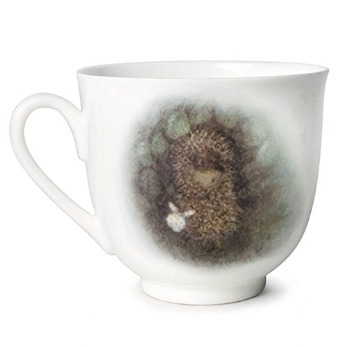 Dog and Hedgehog Cup and Saucer Gift Set. Hedgehog in the Fog Collection