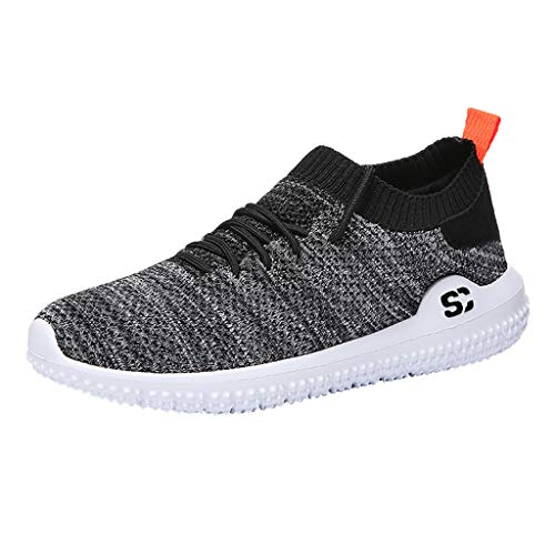 - iHPH7 Shoes Running Casual Lightweight Comfortable Breathable Walking Sneakers Running Shoes Men's (42,Black)