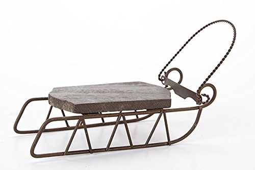 Darice 6554-60 Holiday Miniature Sleigh Wood Rustic Sled (1 Pack),,
