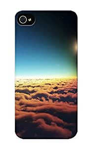 Flexible Tpu Back Case Cover For Iphone 5/5s - Solar Eclipse Over Clouds