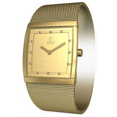 Obaku Harmony Womens Watch - Gold Band / Gold Face - V102LGGMGS-031