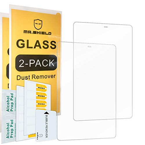 [2-Pack]-Mr.Shield for Samsung Galaxy Tab A 10.5 2018 SM-T590 / Galaxy Tab A2 10.5 [Tempered Glass] Screen Protector [0.3mm Ultra Thin 9H Hardness 2.5D Round Edge] with Lifetime Replacement