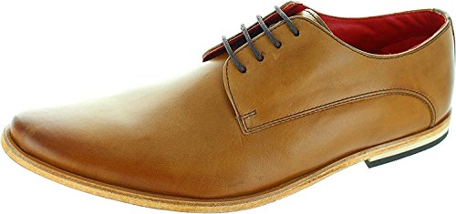 Base Mens Oxford of Brown Brogue Range Leather and Formal London Tan Derby Black UPS Informal Lace and rWwYSqnrH