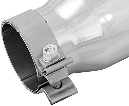 aFe Power 49T30401-P09 3 Inlet x 4 Outlet x 9 Length Stainless Steel Polished Bolt-On Exhaust Tip