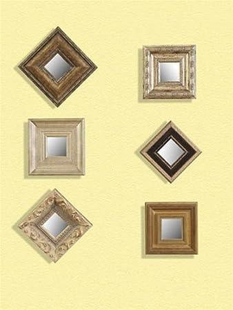 Amazon.com: Bassett Mirror Company Set Of 6 Decorative Wall Mirrors ...