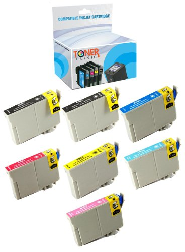 Toner Clinic ® TC-T098 7PK 2 Black 1 Cyan 1 Magenta 1 Yellow 1 Light Cyan 1 Light Magenta Remanufactured Inkjet Cartridge for Epson T098 99 T099 99 Compatible With Epson Artisan 700 Artisan 710 Artisan 725 Artisan 730 Artisan 800 Artisan 810 Artisan 835