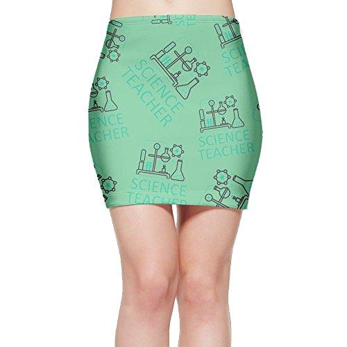 SKIRTS WWE Chemistry-Science-Teacher Women Slim Fit High Waisted Mini Short Skirts by SKIRTS WWE