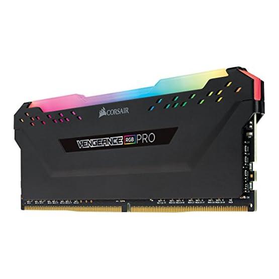 Corsair Vengeance RGB PRO 16GB (2x8GB) DDR4 2666MHz C16 LED Desktop Memory, Black 41kifCt PSL. SS555