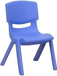 Flash Furniture Blue Plastic Stackable ...