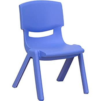 blue school chair. Flash Furniture Blue Plastic Stackable School Chair With 10.5\u0027\u0027 Seat Height 0