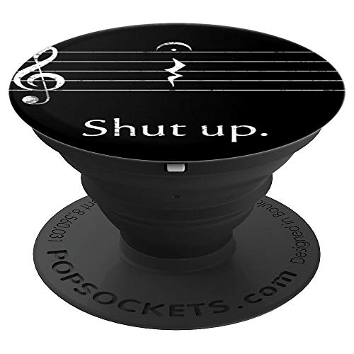 Funny Music Pop Socket Shut up Quarter Rest and Fermata - PopSockets Grip and Stand for Phones and Tablets