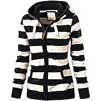 Women Zipper Hoodie Hooded Sweatshirt Pullover Slim Jacket