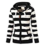 Wokasun.JJ Women Ladies Zipper Tops Hoodie Hooded Sweatshirt Coat Jacket Casual Slim Jumper