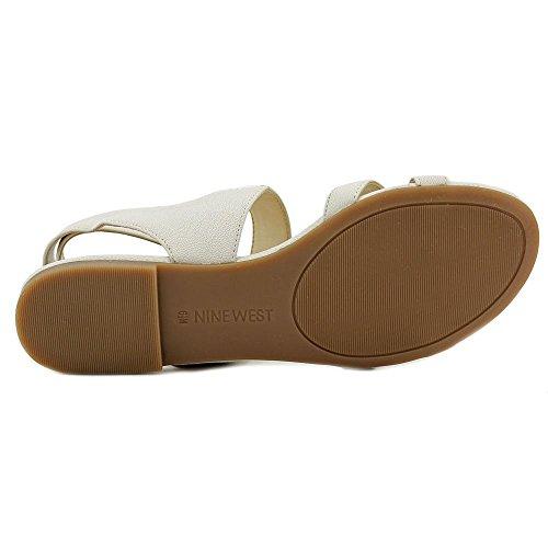 Nine West Darcelle de cuero del vestido de la sandalia Off White Leather