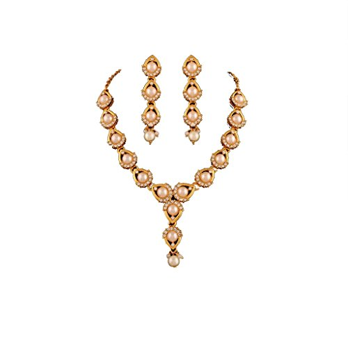 Variation Pearl Gold Plated Necklace Sets – VD14154