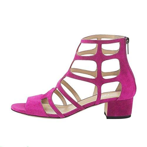 Sandaalit Naiset Peep Ruusunpunainen Toe Vetoketjut Lohko Lovea Seksikäs Matala Juhlakengät Nilkan Kantapää Korkea Strappy Ydn nYdqRawa