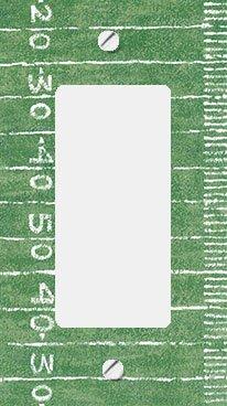 Football Field GFI Rocker Decorative Switchplate Cover (Football Switchplate Cover)