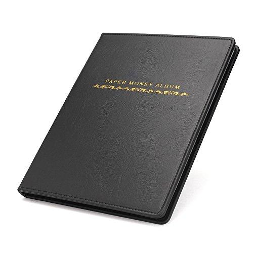 Libro de soportes para 60álbum de colección dinero Penny Bolsillos de almacenamiento libro recoger dinero billetes...
