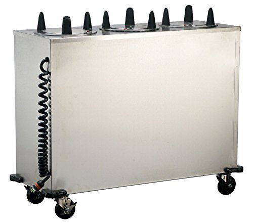 Lakeside 6309 Regular Cabinet Heated Plate Dispenser; 3 Stack - Fits Plates 8-1/4
