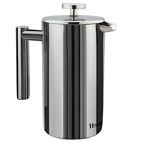 Homdox 18/10 Stainless Steel French Press Coffee Maker , 8 Cups , 1 Liter , 34 Oz