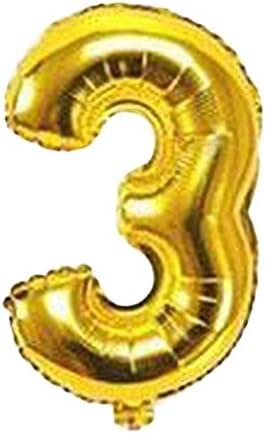 Plus Nao(プラスナオ) 風船 バルーン 数字 ビッグ ジャンボ 大きい 誕生日会 バースデーパーティー お祝い 飾り付け 演出 室内装飾 パーテ - ゴールド3