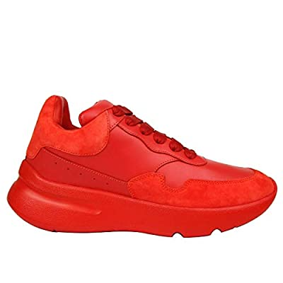 Alexander McQueen Women's Red Leather/Suede Sneaker 508291 6409
