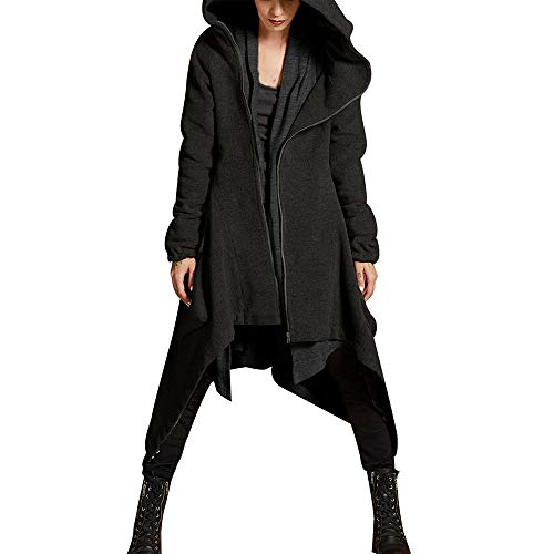 (BODOAO Womens Winter Asymmetric Overcoat Casual Hoodie Zipper Quilted Coat Casual Jacket Jacket)