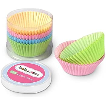 Amazon.com: Babycakes cc100ws 100 Count Paper Cupcake Liners ...