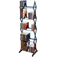 Atlantic Mitsu 130 CD/90 DVD/BluRay/Games 5-Tier Media Rack Smoke