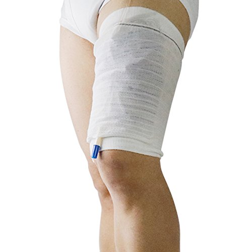 Catheter Urine (MEILYLA Sleeve Leg Urine Bags Straps Catheter Bag Cover Sleeve For Leg Calf Holder Urinary Incontinence Supporting Fixing Attached L)
